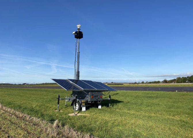 A Solar Sentinel deployed at an arport