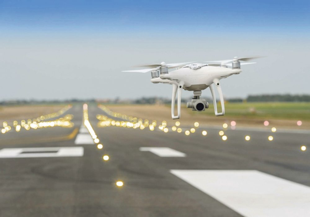 drone at airport